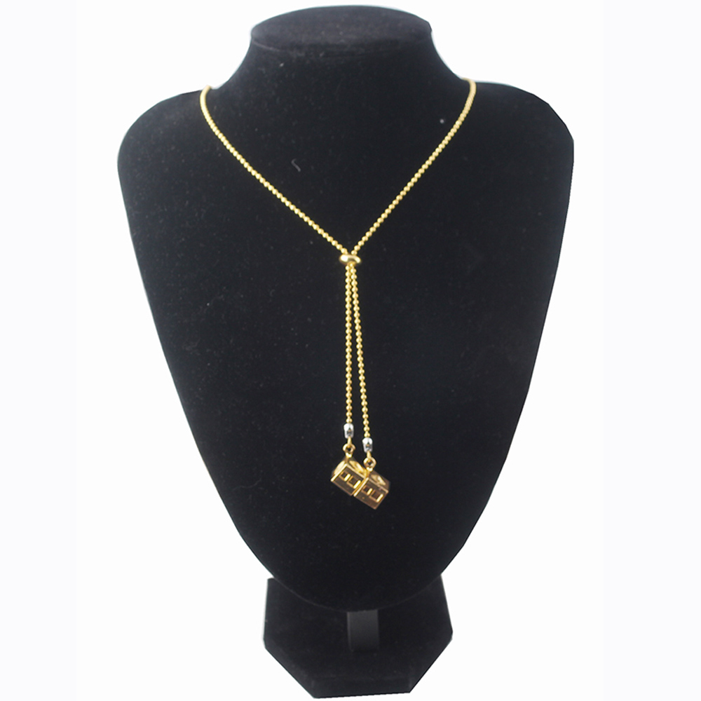 Hot Movie Star Wars Necklaces Beads Chain New design Gold Lucky Dice Prop Pendants Adjustable collar Fashion summer Jewelry in Pendant Necklaces from Jewelry Accessories
