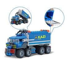 KAZI 163pcs Transport Dumper Truck Model Building Blocks Toy Sets ABS Assembled Blocks Educational Toys for Children Kids Gifts