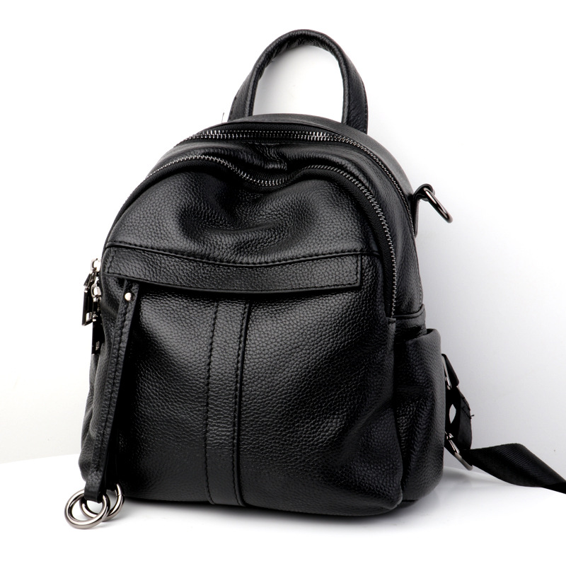 Lisse Fashion Women Backpacks Cow Genuine Leather Solid Lady Backpacks Softback Cotton Internal material Zipper Bag nucelle brand new design fashion drawstring gemstone lock zipper cow leather casual women lady backpacks shoulders school bag