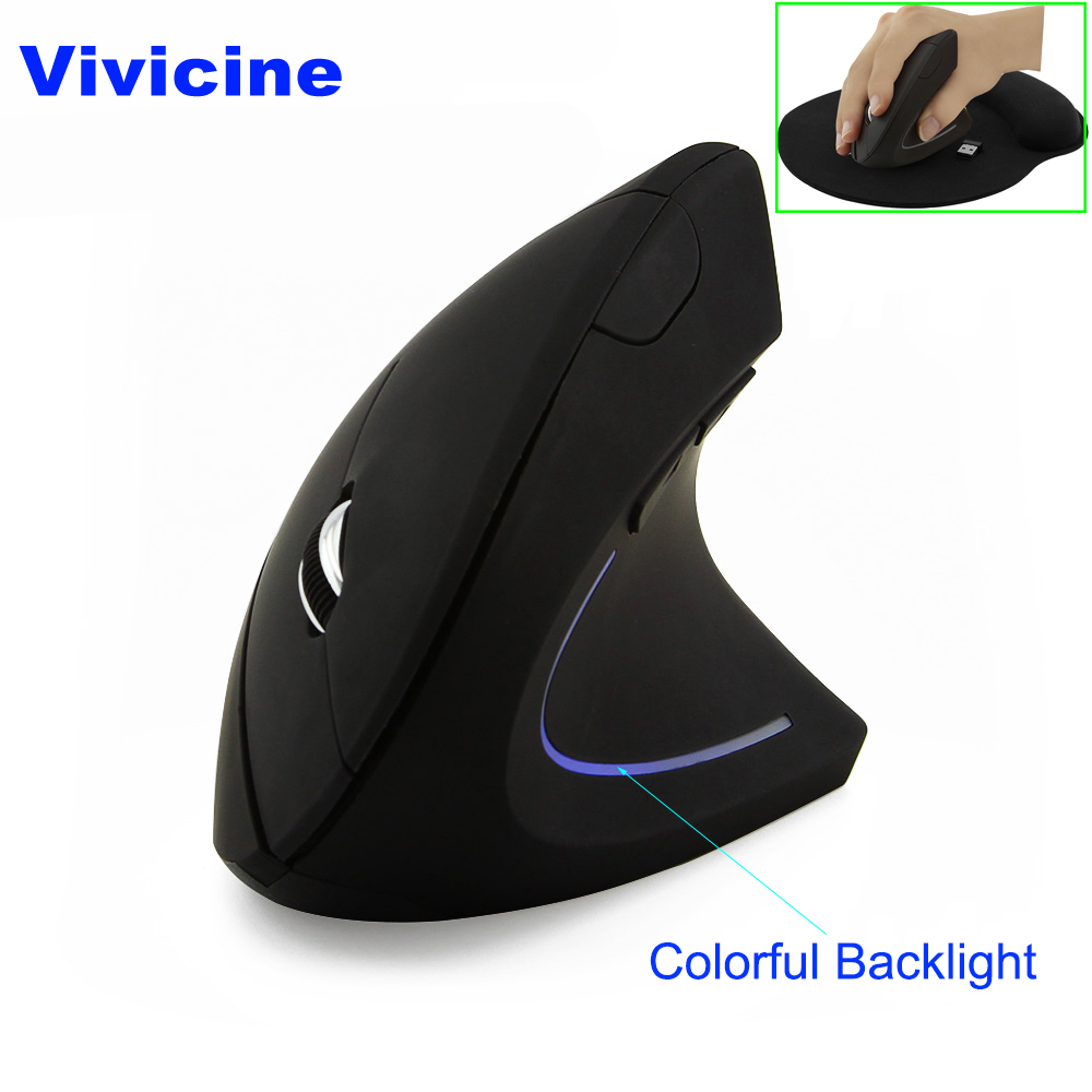 Vivicine אלחוטי עכבר ארגונומי אופטי 2.4 גרם 800/1200/1600 dpi אלחוטי אנכי עכבר אביזרי מקרן
