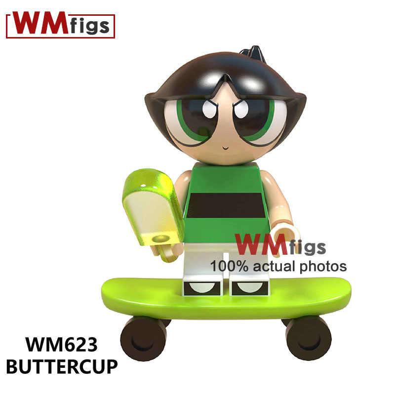 Bolhas Flor Buttercup Legoings Anime Figura Dos Desenhos Animados Do Filme Meninas Wreck-it Ralph Building Blocks Brinquedos Presentes Do Bebê Do Miúdo