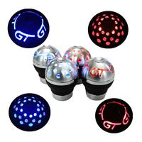 LED Gear Shift Knob for AT MT Shifter Lever 3 Aadapters switching adapters Cool Funny Automobile Acessories Auto Decoration part