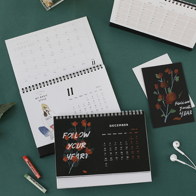2019 Standard Notes Page Table Calendar The Lover Of The Letter Memo