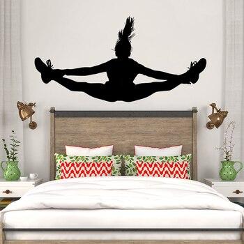 dansen meisje muurtattoo vinyl interieur tieners meisjes slaapkamer muurschildering verwijderbare custom kleuren behang vinilos paredes lc112