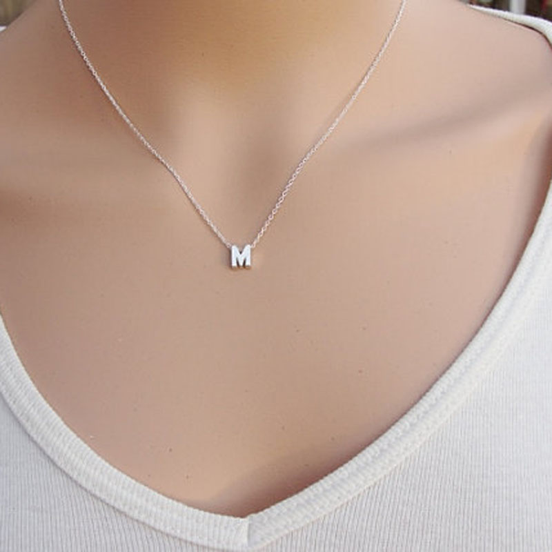 Pendant Necklace Initial