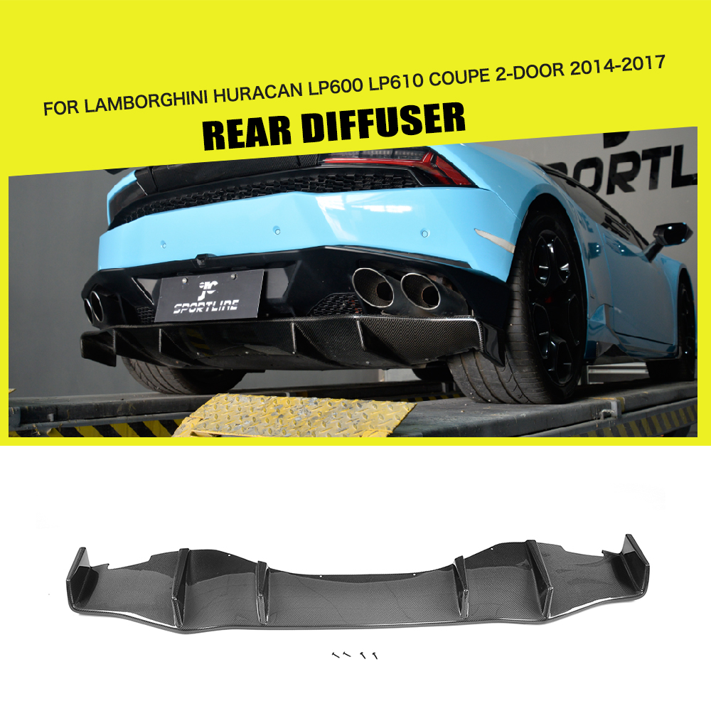 Auto Replacement Parts Carbon Fiber D Style Car Front Splitters Lip Apron Case For Lamborghini Huracan Lp600 Lp610 Coupe 2 Door 2014-2017 Factories And Mines