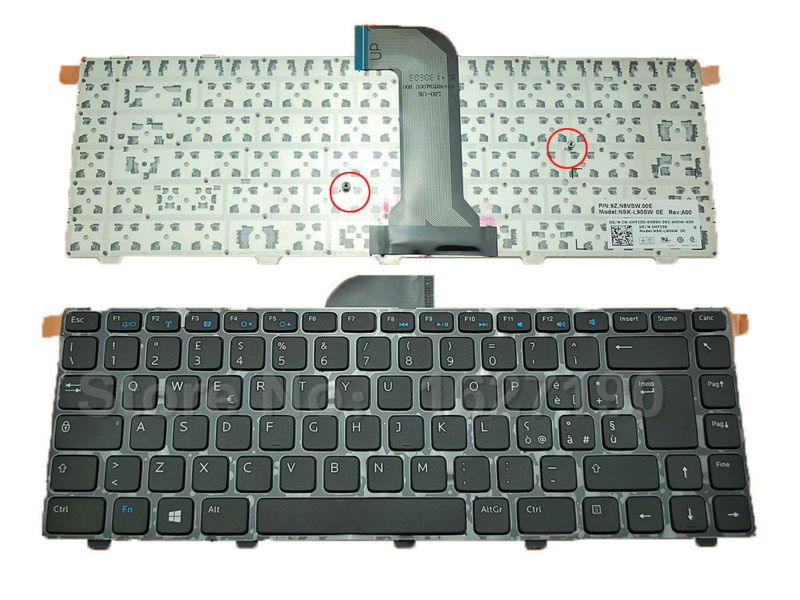 IT/Italian laptop keyboard for DELL Inspiron 14 3421 14R 5421 2421 GLOSSY FRAME BLACK (For Win8) Laptop Computer keyboards