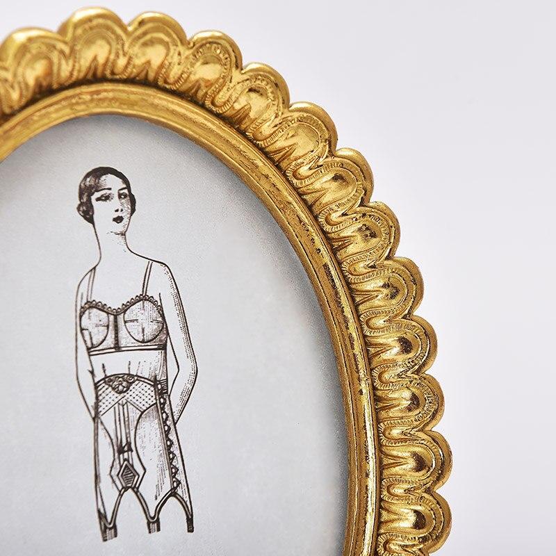 Amerikanischen vintage gold spitze, oval bilderrahmen, set luxus ...