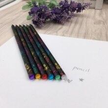 12 pièces/lot bricolage mignon en plastique noir rempli Durable HB peinture dessin crayon diamant écouteurs pour bureau et fournitures scolaires