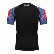 3D Printed T-shirts Men Compression Shirt Men's MMA Tshirt Short Sleeve Quick dry Workout Bodybuilding Fitness Tops T shirt