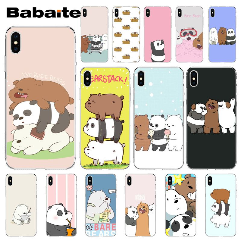 Babaite South Korea Three Bare Bear Colorful Cute Phone Accessories Case for