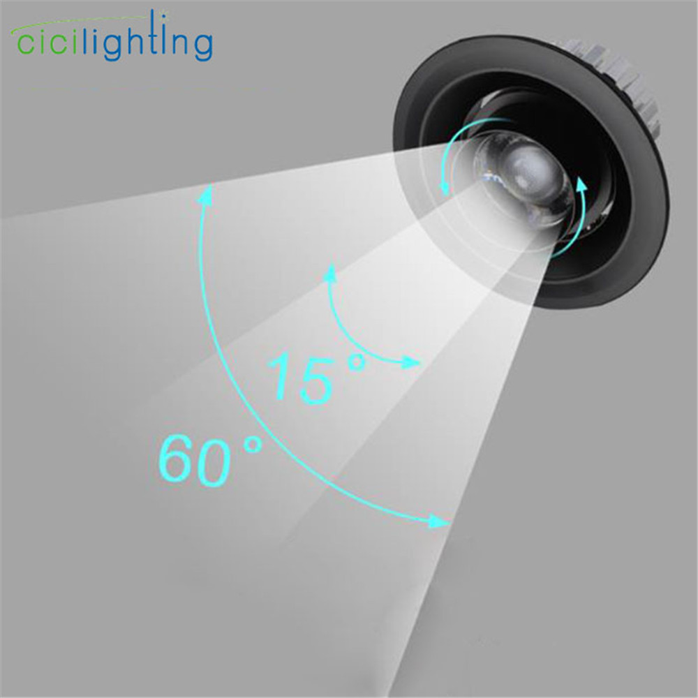 Modern Zoom Led Downlight, Industrial 3W 5W 7W 10W 15W