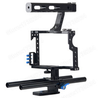 NEW Professional Handle Grip DSLR Rig Stabilizer Video Camera Cage For Sony Alpha A7S A7 A7R A7RII A7SII Panasonic Lumix DMC GH4