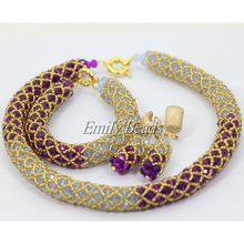 Popular Purple Lilac African Wedding Beads