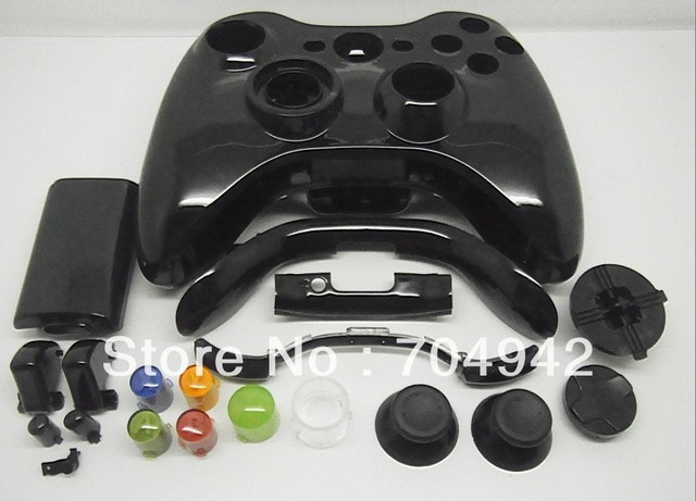 Shiny Glossy Full Controller Housing Shell for Xbox360