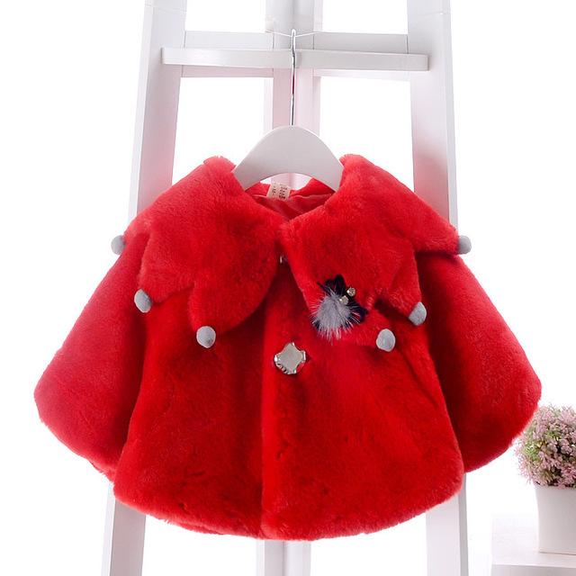 2016New meninas da forma do bebê manto outono e inverno Coreano engrossar camisola xale manto