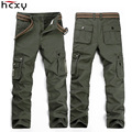HCXY 2016 Fashion Military Cargo Pants Men Loose Baggy Tactical Trousers  Casual Cotton Cargo Pants Men Multi Pockets Big size