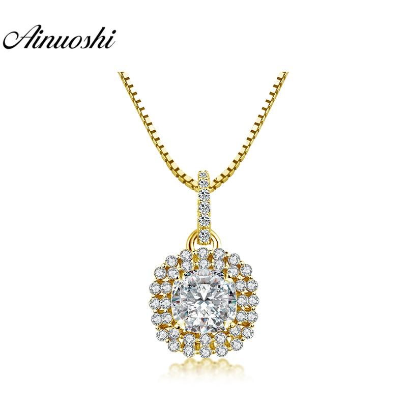 Diszipliniert Ainuoshi 10 Karat Gelb Gold Platz Halo Anhänger 5ct Herz Cut Sona Diamant Anhänger Luxuriöse Separaten Anhänger Frauen Schmuck Geschenke