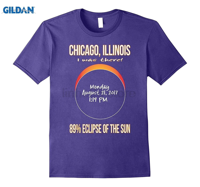 GILDAN 2017 Chicago, Illinois Eclipse Souvenir T Shirt Womens T-shirt