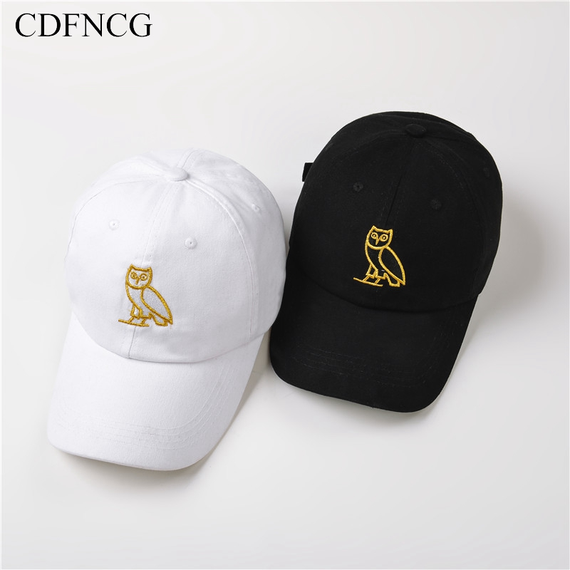 CDFNCG 2019 Fashion Pop Hip Hop   Baseball     Cap   Embroidery Owl Sun Dad Hat for Men Women Streetwear Outdoor Casquette Gorras
