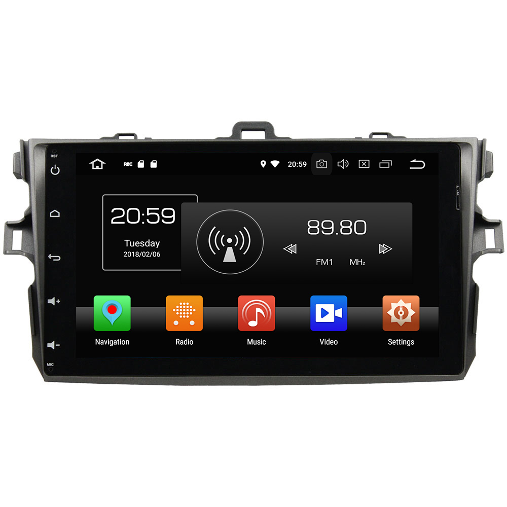 4GB RAM 32GB ROM Android 8.0 Octa Core 2 Din LCD Touch screen car radio player Bluetooth for Toyota COROLLA 2006-2011