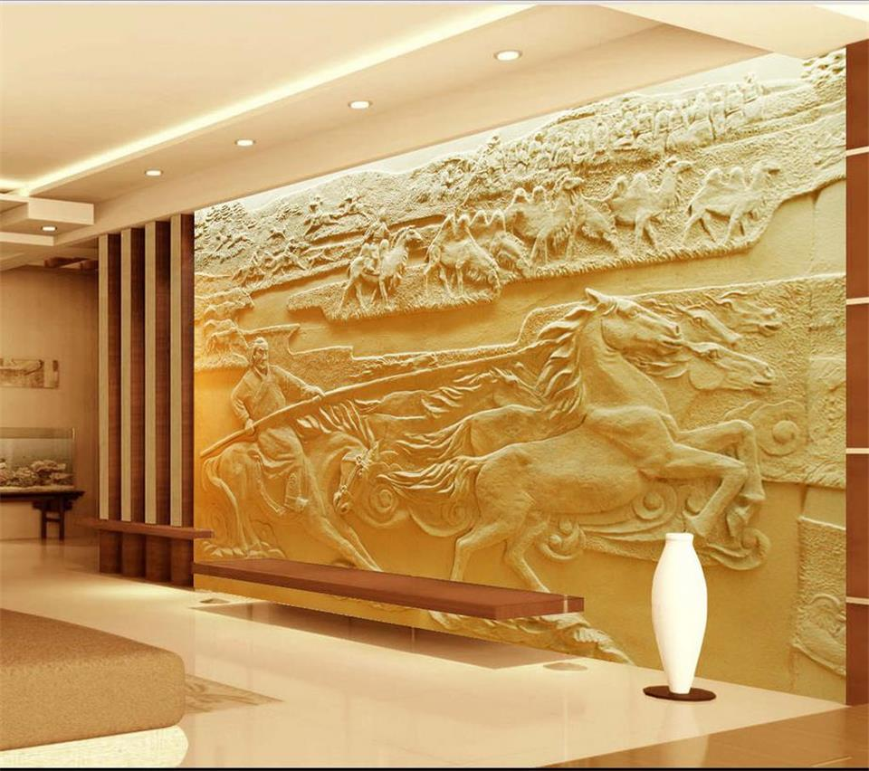 3d wallpaper custom photo mural living room horse sand sculpture 3d painting TV sofa background non-woven wallpaper for walls 3d custom modern 3d photo high quality non woven wallpaper wall murals 3d wallpaper tv sofa background wallpaper for living room