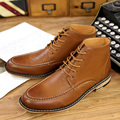 New 2015men leather boots fashion shoes for men carved men fashion Autumn ankle boots 2colors boots elevator shoes free shipping