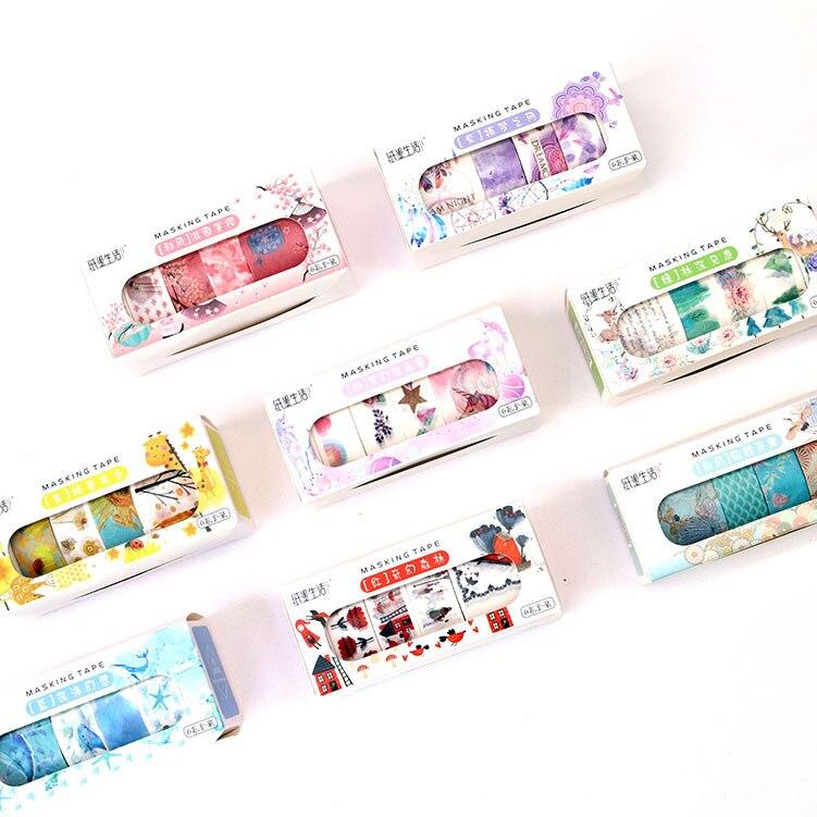 6pcs/lot Dreamcatcher Unicorn Washi Tape Diy Decorative Scrapbooking Masking Tape Adhesive Tape Set Label Sticker