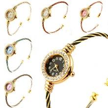 Лидер продаж индивид женское платье девушки Стальная проволока кристалл кварца браслет наручные часы Новый Дизайн 5dcg 6ylo