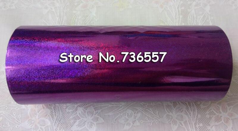 Estampage Chaud Feuille Holographique Dorure Sur Papier Ou En Plastique 16 Cm X 120 M Pourpre Couleur Sable