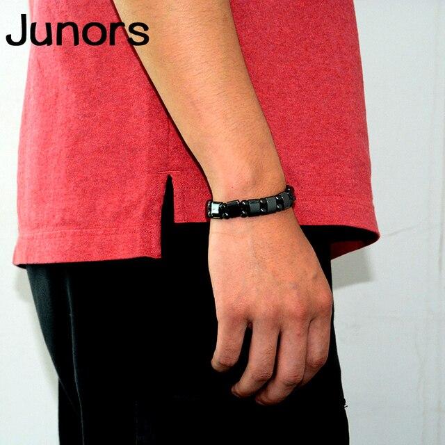 Multilayer Magnet charms slimming health men bracelet Magnet Black Stone beads Magnetic Bracelets for Women Weight Loss Gifts 5