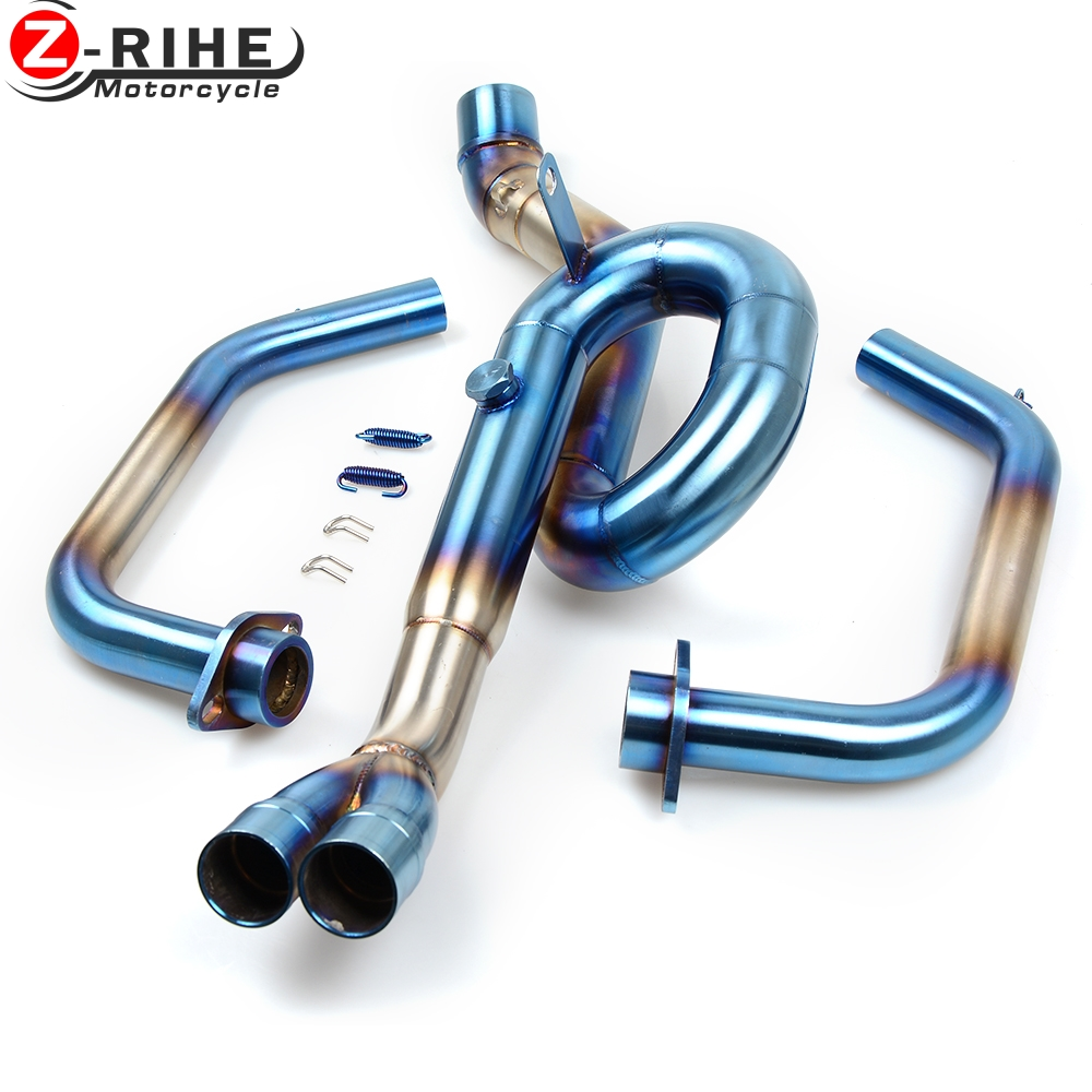 for yamaha yzf r3 yzfr3 tracer Moto High Quality Stainless Steel Slip On Exhaust Mid Pipe mid exhaust pipe Exhaust Mid Pipe