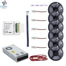 5m~30m 5050 rgbw rgbww(4colors in 1led)led strip light+wifi led controller+rgbw led amplifier+12v led power