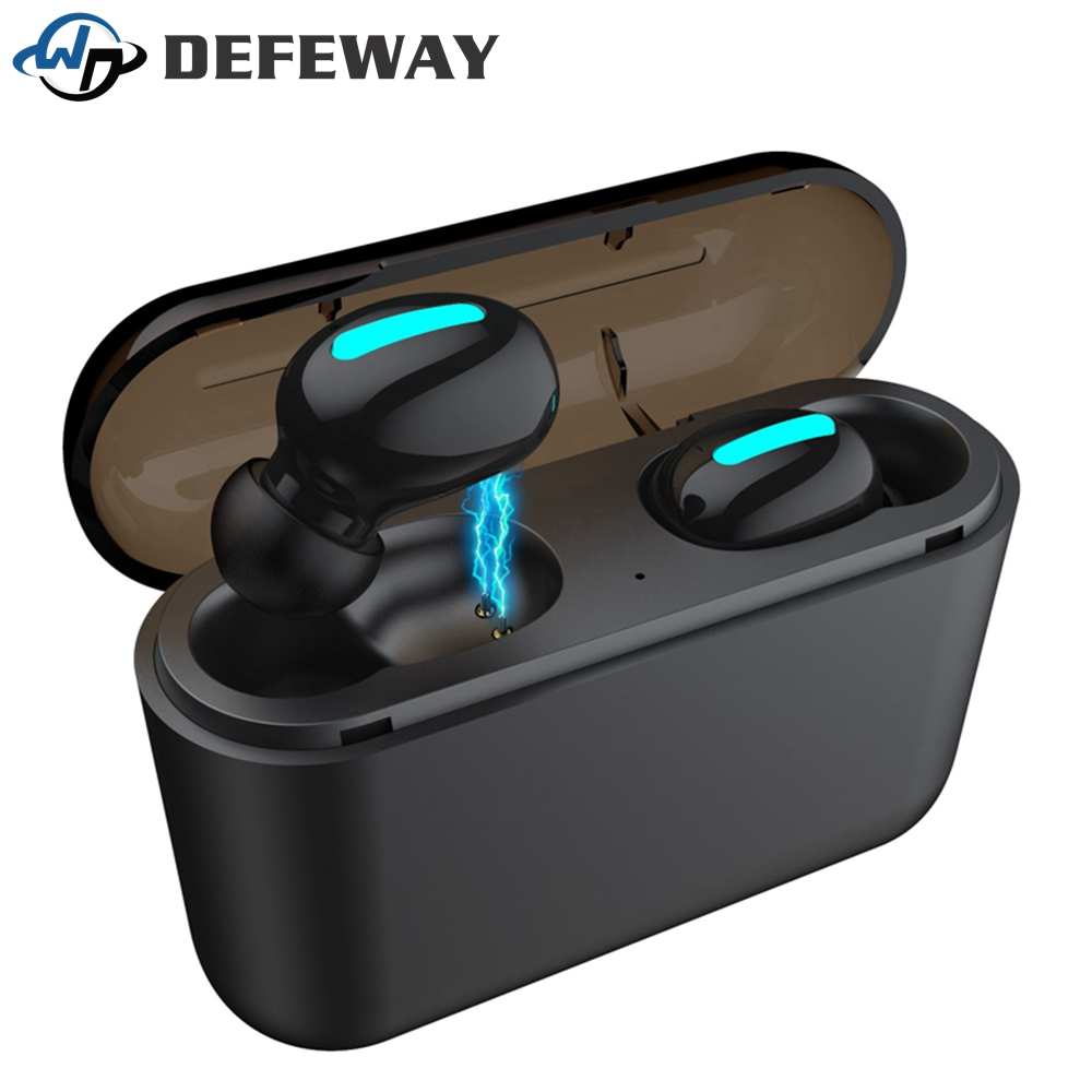 Defeway Bluetooth 5.0 Earphones Headphones TWS Ture Wireless Headphones In Ear Mini Earbuds HBQ Q32 IPX5 Waterproof Headset-in Bluetooth Earphones & Headphones from Consumer Electronics on AliExpress