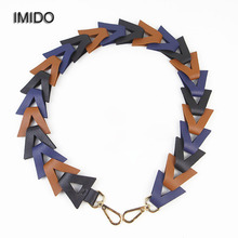IMIDO Wholesale price Women replacement straps leather shoulder belt bag handles handbags knit accessories parts for bags STP007