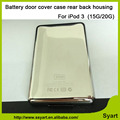 100% Guarantee 15G/20G back housing battery door cover case rear housing for iPod  3