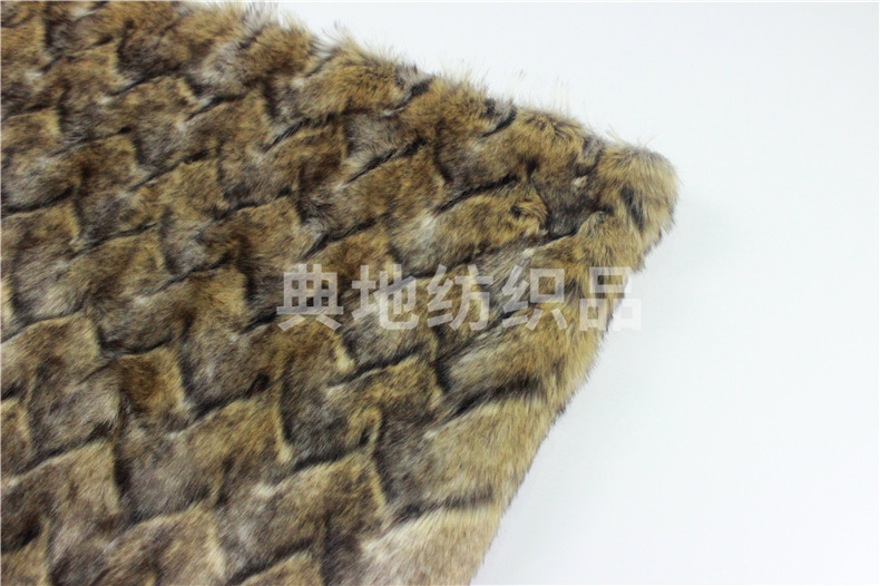Faux Fur Meter Diamond Jacquard
