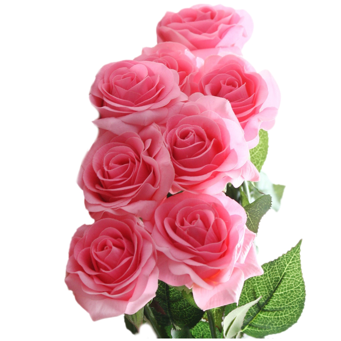 10 unids Latex Real Touch Rose Decoración Rosa Flores Artificiales Flores de Sed