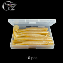 10pcs/box 10cm Artificial Soft Lures Shad Silicone Bait 6.0g Fishing Lure Wobblers Pesca For Jig Head Fish Fishing Tackle Set