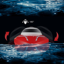 лучшая цена 2.4G High Speed Ship Model 25KM/h Remote Control Electric Toy Automatic Flip Game Speed Boat Airship RC Boat Racing Game Toy