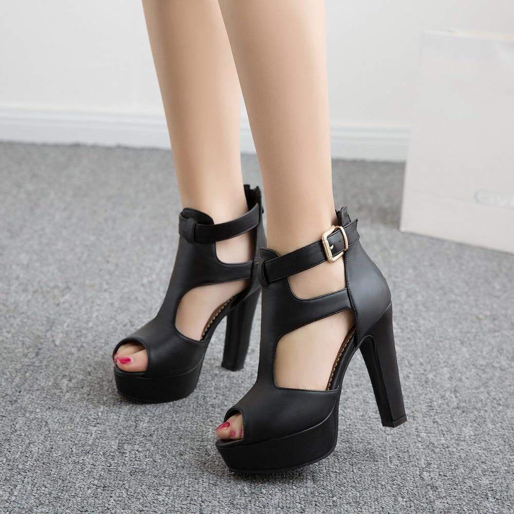 2017New  Ladies Shoes Gladiator Sandals Women Big Size 48 49 50 Sandals Ladies Party Wedding Shoes High Heel Women Pumps 3111