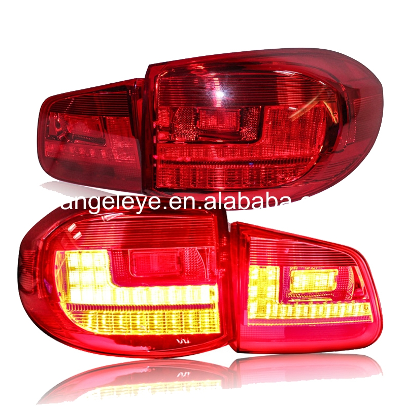 For Volkswagen Tiguan Rear lights LED Tail Lights 2009-2012 year Red White Color LF ...