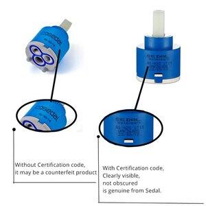 Smesiteli керамика картриджи крана 40/35/25 мм картридж Миксер с низким крутящимся элементом кран аксессуары шпинделя плоское основание свободное вращение