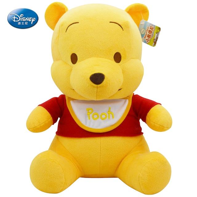 "Disney winnie pooh 10 ""25 cm inches pluche geel slabbetjes baby knuffel kids preferred pop"