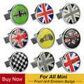 Metal 3D ön tampon ızgarası amblem Badge Sticker araba Styling için MINI Cooper JCW S bir Countryman R60 R61 F56 F60 aksesuarları