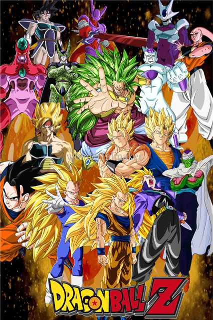 Personnalis toile dragon ball affiche dragon ball z for Decoration murale dragon ball