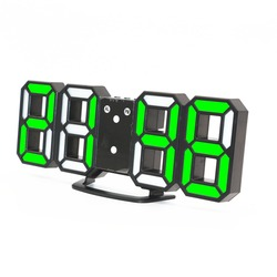 New Arrival 3D LED digital clock with Night mode Adjust the brightness modern electronic alarm clock Wall glowing hanging clock