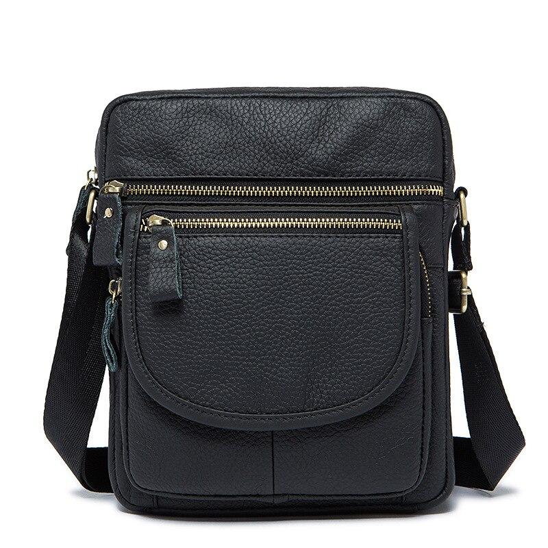 ФОТО Leather Men Crossbody Bags Ipad Men's Shoulder Bag Cowhide Men Messenger Bags
