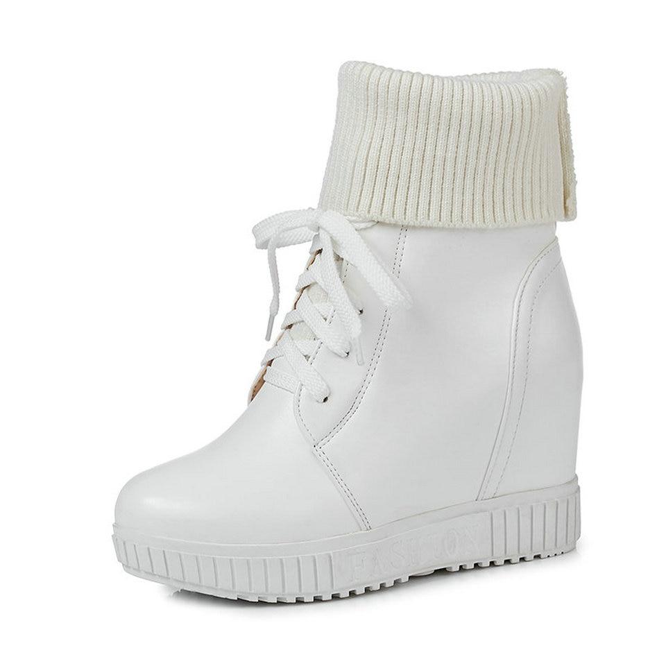 Rouge À Nikove Rond Hauts Noir Cheville Talons Femmes Cales 2019 Hiver blanc Chaussures Bout Troupeau Taille 34Noir Bottes b6yYgvIf7m