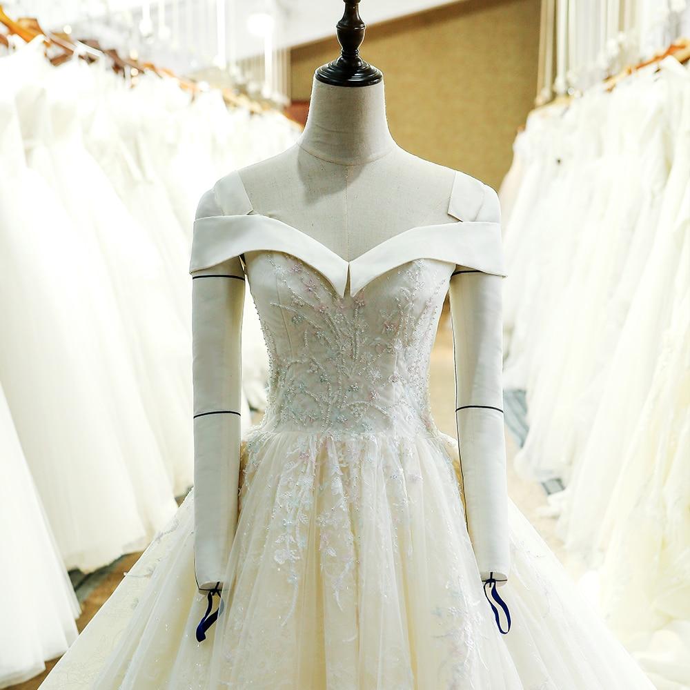 SL-130 skräddarsydd snörning klänning klänning brudklänning - Bröllopsklänningar - Foto 4